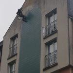 Démoussage de facade pulvérisation